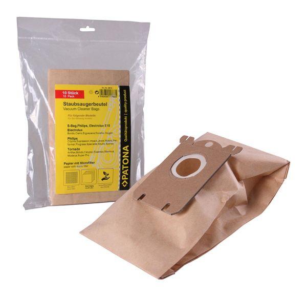 10 Staubsaugerbeutel Papier für Electrolux E15